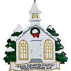 Church Personalized Christmas Ornament