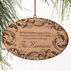 Family Blessings Personalized Ornament