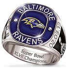 Men's Personalized Baltimore Ravens Champions Commemorative Ring