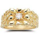 0.20 Ct Diamond Mens Ring in 14K Yellow Gold