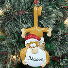 Personalized Monkey Business Christmas Ornament