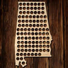 Alabama Beer Cap Map Bar Sign