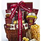 Congratulations! Deluxe Snacks and Sweets Balsam Gift Basket