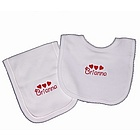 Personalized Heart Bib and Burp Set