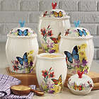 4 Piece Butterfly Canister Set