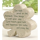 Shamrock Plaque with Warm Wishes Blessing