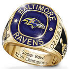 Men's Personalized Baltimore Ravens Champions Gold-Plated Ring