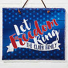 Land of the Free Personalized Slate Plaque