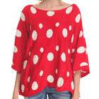 Women's Polka Dot Sweater in Red and White