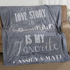 Love Story Personalized Fleece Blanket