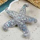 Swarovski Crystal Starfish Pin