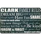 Family Rules Personalized Doormat