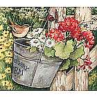 Floral Fence 300-Piece Jigsaw Puzzle