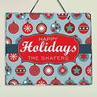 Personalized Holiday Ornament Slate Wall Decor