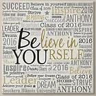 Personalized Believe in Yourself Canvas Art Print