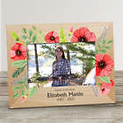 Personalized Floral Memorial Picture Frame