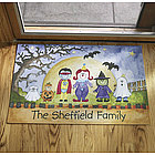 Personalized Halloween Character Doormat
