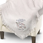 White Heart Blending of Lives Marriage Throw