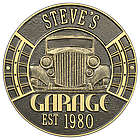 Vintage Car Personalized Aluminum Garage Plaque