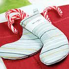 Metallic Striped Mini Christmas Stockings Set