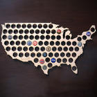 Beer Cap Map of USA Bar Sign