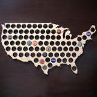 Beer Cap Map of USA Bar Sign