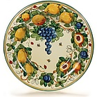Tuscan Fruit Ceramic Serving Platter