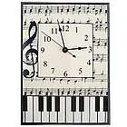 Music Notes Ceramic Wall Clock