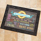Summer Rules Personalized Doormat
