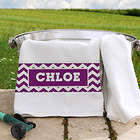 Chevron Personalized Pet Towel