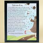 Graduate's Personalized Hats Off Framed Art Print