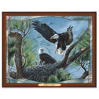 Eagle Nest Light Up Stained Glass Wall Decor