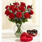 Valentine's Day Abundant Love Roses and Chocolates