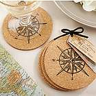 Compass Cork Coaster Favors