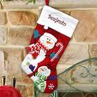 Personalized Country Red Stocking with Snowman