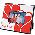 Personalized Interlocking Hearts Frame