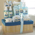Lily and Jasmine Scented Bamboo Bath Set