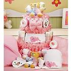 Girl's Large Baby Cake Essentials Gift Basket