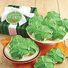 12 St Patricks Day Frosted Cutout Cookies Gift Box