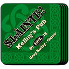 Personalized Slainte Coasters in Green