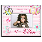 Personalized Girly Bee Picture Frame