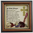 Irish Prayer Framed Wild Flowers Print