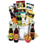 Microbrew Beers and Gourmet Snacks Gift Bucket