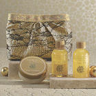 3-Piece Argan Oil and Vanilla Scented Bath Set with Clutch