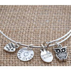 Special Teacher Personalized Wire Bangle Bracelet