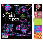 Kid's Op Art Scratch Papers