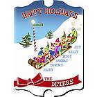 Personalized Vintage Elf Holiday Wall Sign