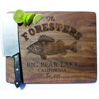 Fishing Cabin Themed Personalized Engraved Cutting Board