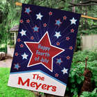Personalized Star Happy 4th House Flag
