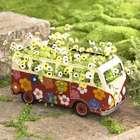 Metal Flower Power Bus Planter